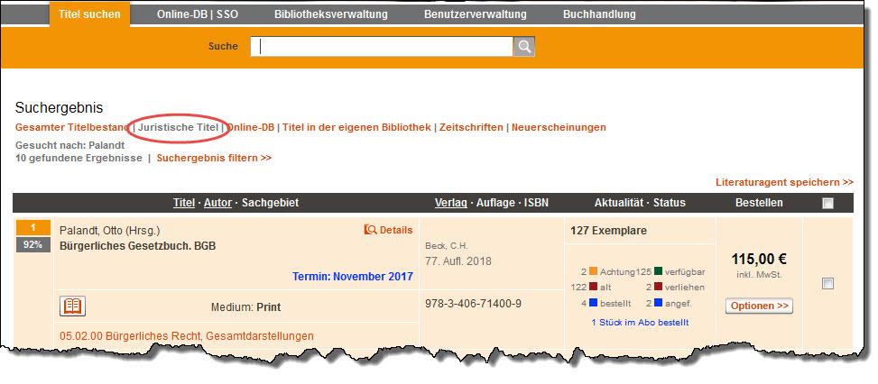 Standarddatenbank